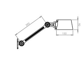 Tonone Bolt Side Fit wandlamp-Ash grey
