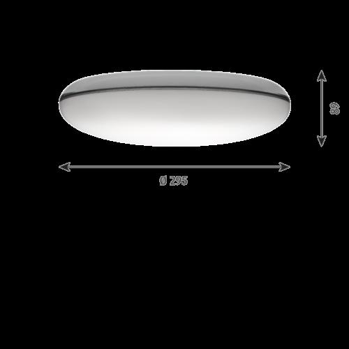 Louis Poulsen Silverback wand/plafondlamp-∅ 29,5 cm