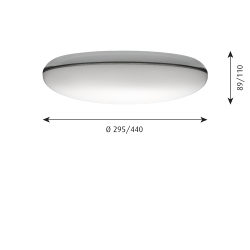 Louis Poulsen Silverback wand/plafondlamp-∅ 44 cm