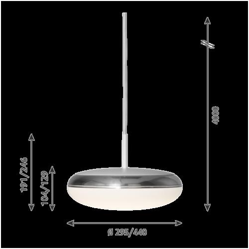 Louis Poulsen Silverback hanglamp-∅ 29,5 cm