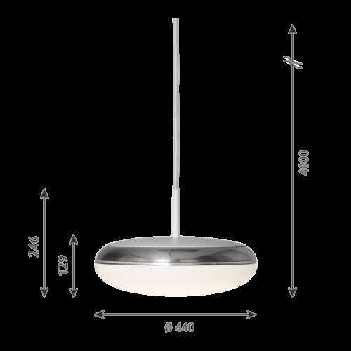 Louis Poulsen Silverback hanglamp-∅ 44 cm
