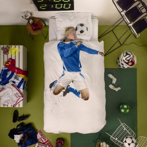 Snurk Soccer Champ blauw dekbedovertrek-140x200/220 cm