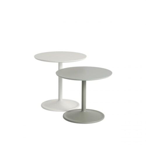 muuto Soft bijzettafel-Off-white-48x48 cm (Øxh)