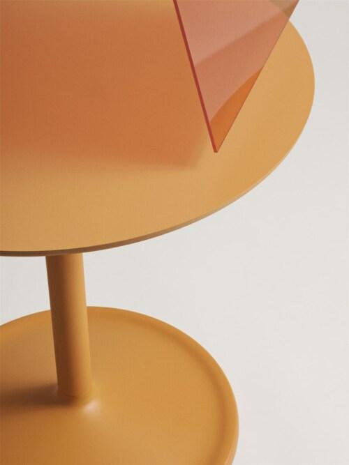muuto Soft bijzettafel-Orange-48x40 cm (Øxh)