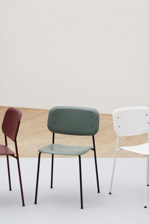 HAY Soft Edge P10 stoel met gepoedercoat onderstel-Rood