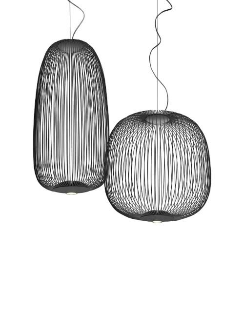 Foscarini Spokes 1 MyLight LED hanglamp dimbaar Bluetooth-Grafiet