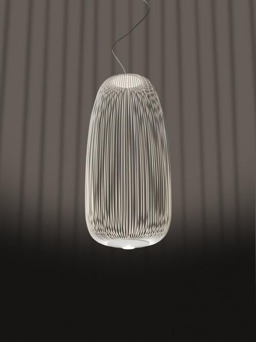 Foscarini Spokes 1 MyLight LED hanglamp dimbaar Bluetooth-Wit