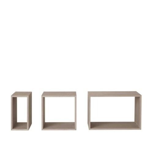 Muuto Stacked 2.0 small open kast-Licht grijs
