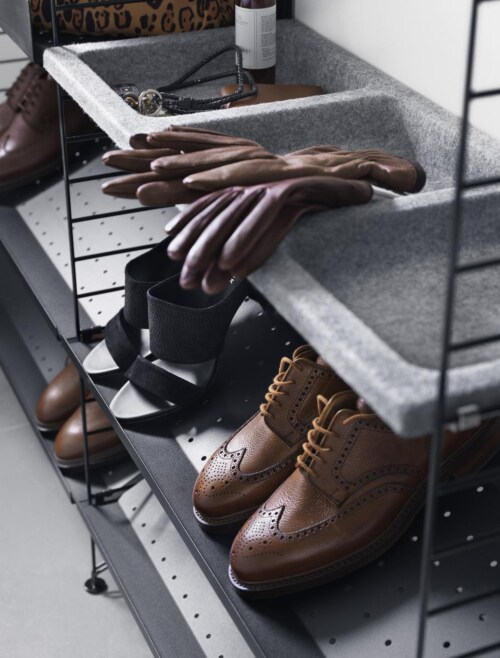 String schoenenkast combinatie 4-Grijs