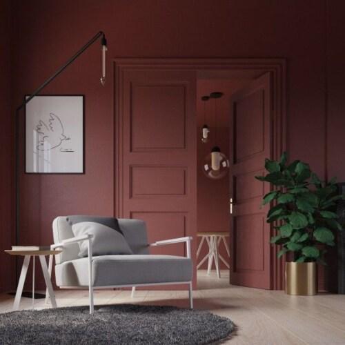 Studio HENK Co fauteuil met wit frame-Halling 65-100