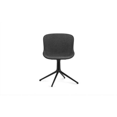 Normann Copenhagen Hyg Front Upholstery eetkamerstoel swivel onderstel -Zwart
