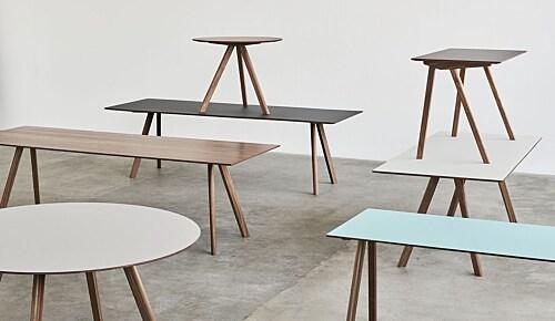 Hay Copenhague CPH30 Walnoot onderstel tafel-250x90 cm-Burgundy