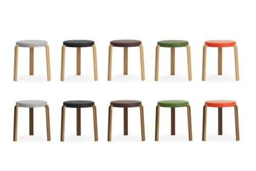 Normann Copenhagen Tap Stool - stoel-Olijf groen-Eiken