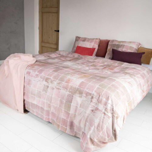 Snurk Tiles Vintage Rose dekbedovertrek-240x200/220 cm