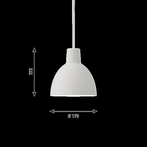 Louis Poulsen Toldbod hanglamp-White-∅ 17
