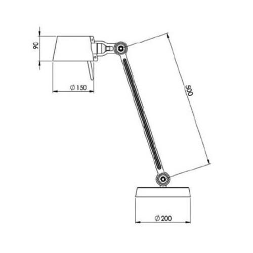 Tonone Bolt 1 Arm Foot bureaulamp-Ash grey