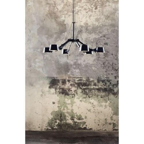 Tonone Bolt 6 Arm Chandelier hanglamp-Midnight grey