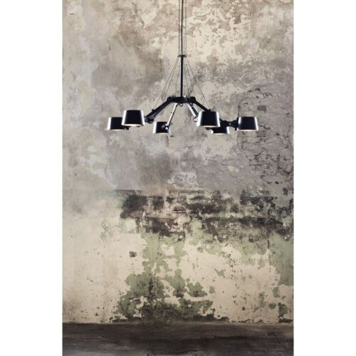 Tonone Bolt 6 Arm Chandelier hanglamp-Ash grey