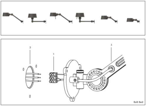 Tonone Bolt Under Fit Install wandlamp-Thunder blue