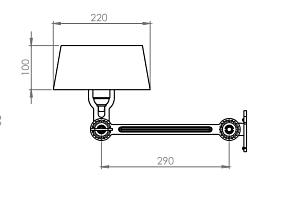 Tonone Bolt Under Fit wandlamp-Lighting white