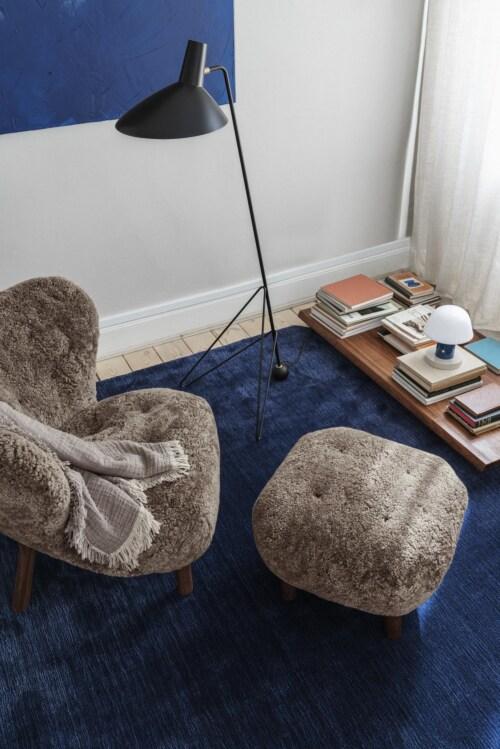 &tradition Little Petra fauteuil + poef poten eiken-Bruin