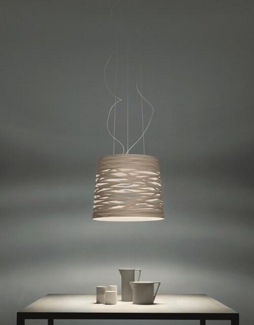 Foscarini Tress grande hanglamp-Wit