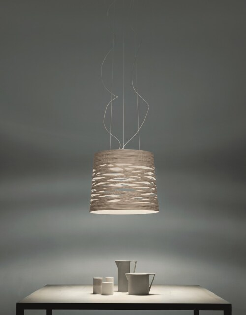 Foscarini Tress Grande LED met dimmer hanglamp-Grijs
