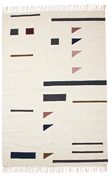 Ferm Living Kelim Colour Triangles vloerkleed-140x200 cm