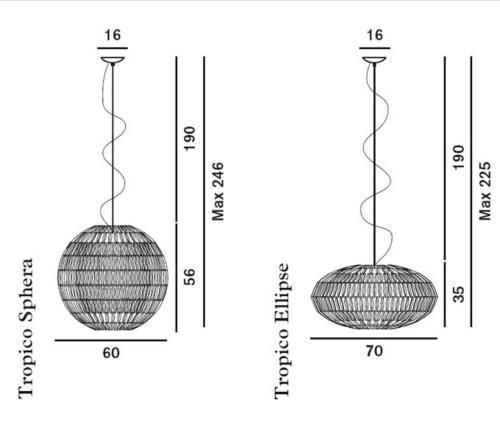 Foscarini Tropico hanglamp-Ivoor-Sphere