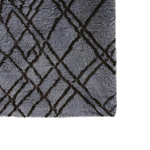 HKliving Woolen Zigzag vloerkleed-Blauw-grijs