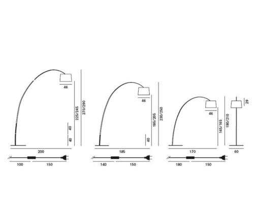 Foscarini Twiggy LED dimbaar booglamp-Wit