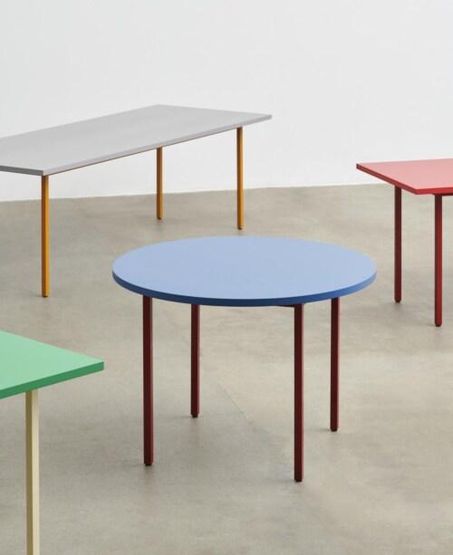 HAY Two-Colour Round tafel-Ochre - Blue-∅ 105 cm