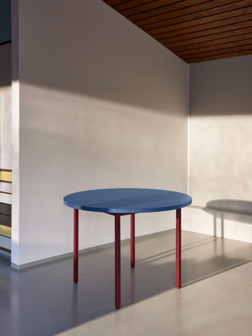 HAY Two-Colour Round tafel-Red - Blue-∅ 120 cm