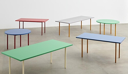 HAY Two-Colour tafel-Ochre - Green Mint-200x90x74 cm
