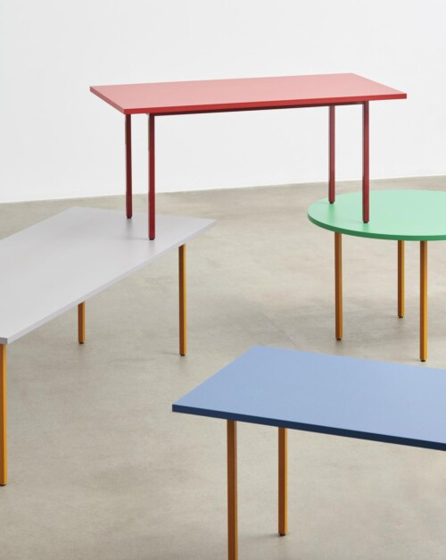 HAY Two-Colour Round tafel-Red - Blue-∅ 105 cm