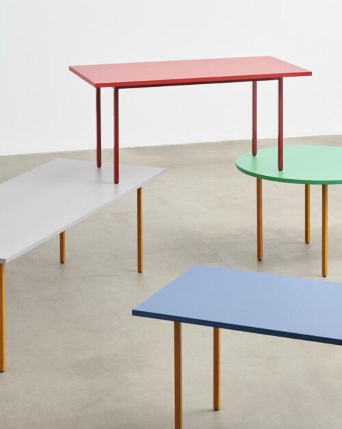 HAY Two-Colour Round tafel-Ochre - Blue-∅ 120 cm