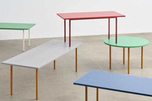 HAY Two-Colour Round tafel-Ochre - Light Grey-∅ 105 cm