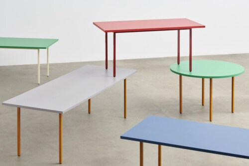 HAY Two-Colour tafel-Red - Blue-240x90x74 cm