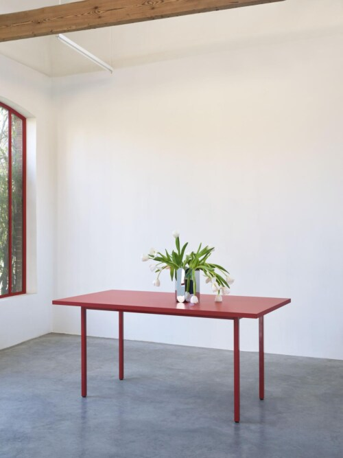 HAY Two-Colour tafel-Ivory - Green Mint-160x82x74 cm
