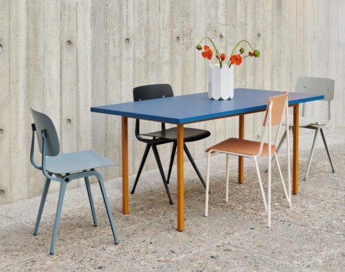 HAY Two-Colour tafel-Red - Blue-200x90x74 cm
