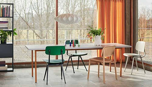 HAY Two-Colour tafel-Red - Blue-160x82x74 cm