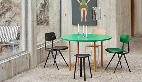 HAY Two-Colour Round tafel-Ochre - Light Grey-∅ 120 cm