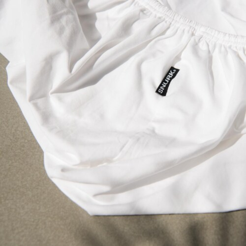 Snurk Uni White dekbedovertrek-240x200/220 cm