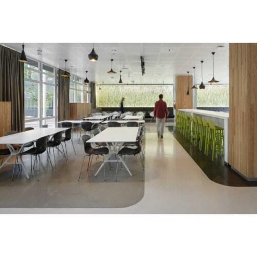 Vitra Eames DAW stoel met essen onderstel-IJsgrijs