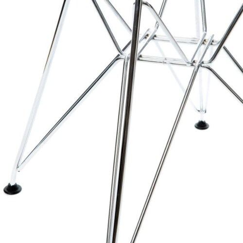Vitra Eames DSR stoel met verchroomd onderstel-IJsgrijs