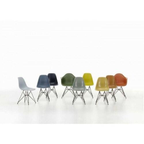 Vitra Eames DAX stoel met verchroomd onderstel-IJsgrijs