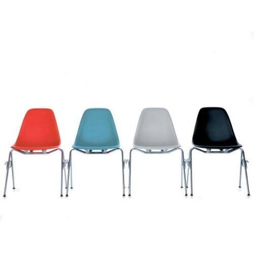 Vitra Eames DSS stapelbare stoel-IJsgrijs