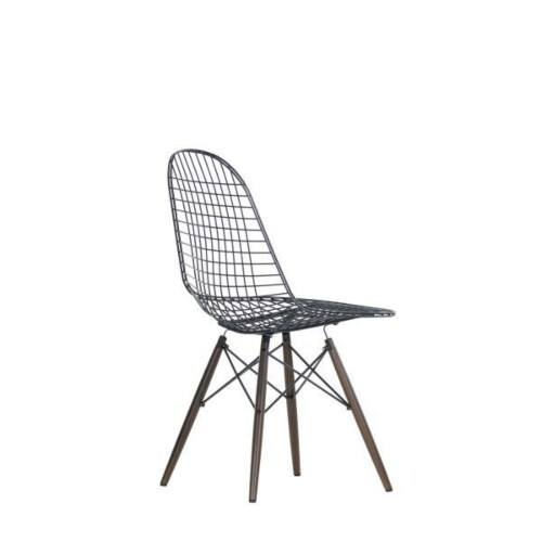 Vitra Eames Wire Chair DKW stoel-Esdoorn, donker