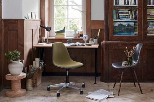 Vitra Eames DAX stoel met wit onderstel-Zwart