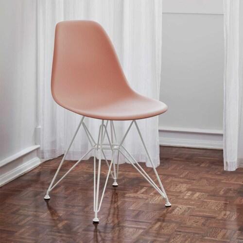 Vitra Eames DSR stoel met wit onderstel-Helder grijs